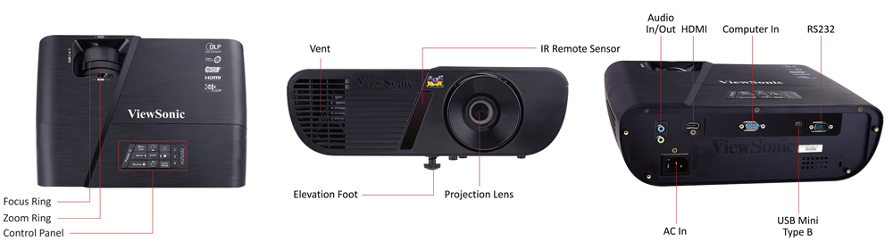 Image result for ViewSonic PJD5254 Projector